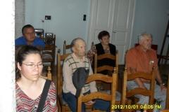 Az aktív időskor biztonságáért c. előadás az önkormányzat nagytermében – hallgatóság
